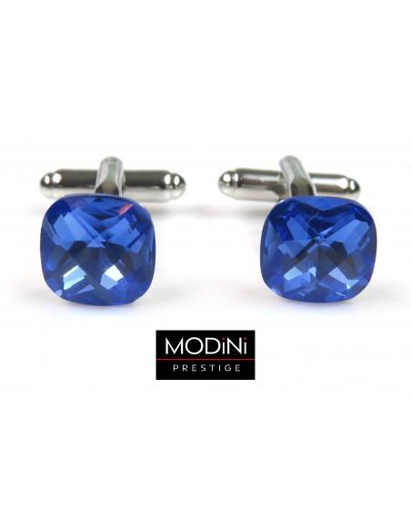Spinki do mankietów niebieskie kryształy 4