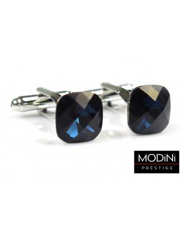 Spinki do mankietów - granatowe kryształy