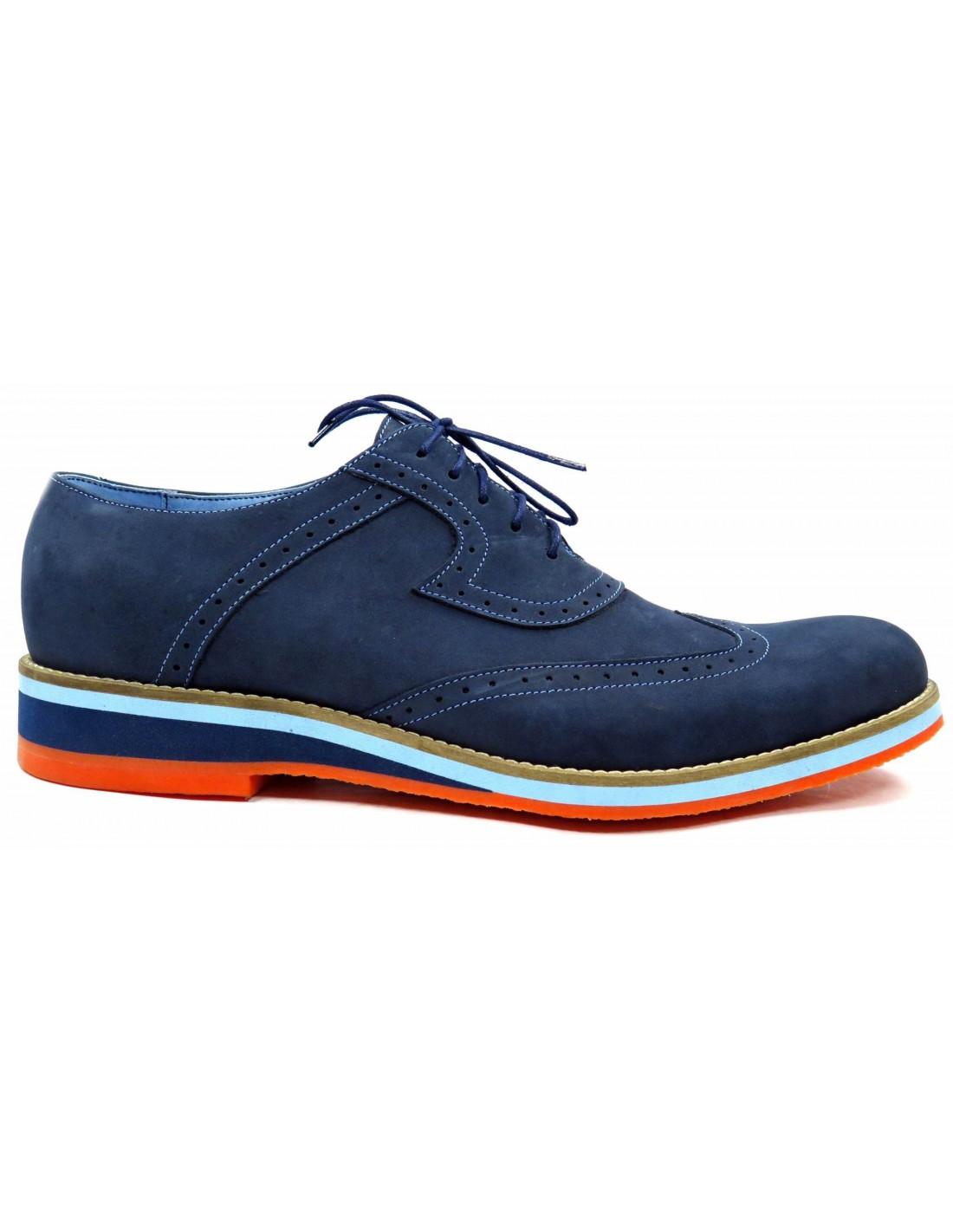Granatowe m skie buty casualowe z pomara czow podeszw sklep internetowy House sklep buty meskie
