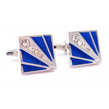 Oryginalne kobaltowe spinki do mankietów z kryształami M60