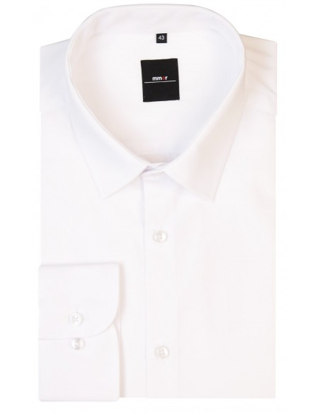 Biała koszula męska z długim rękawem Mmer 001
