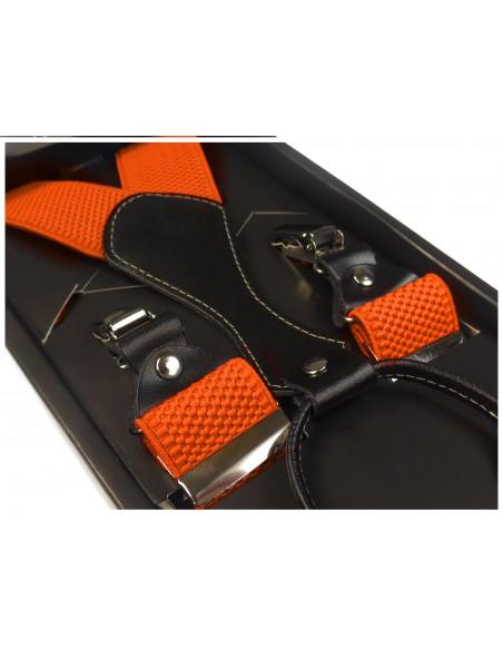 Pomarańczowe szelki męskie do spodni SZ7