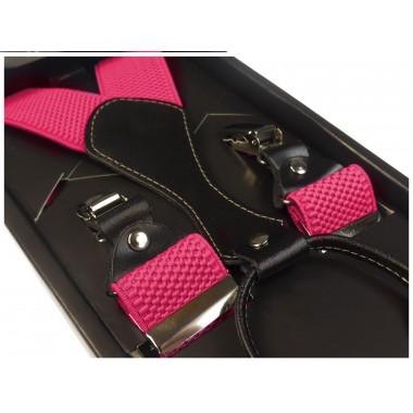 Szelki do spodni - różowe/amarantowe SZ15