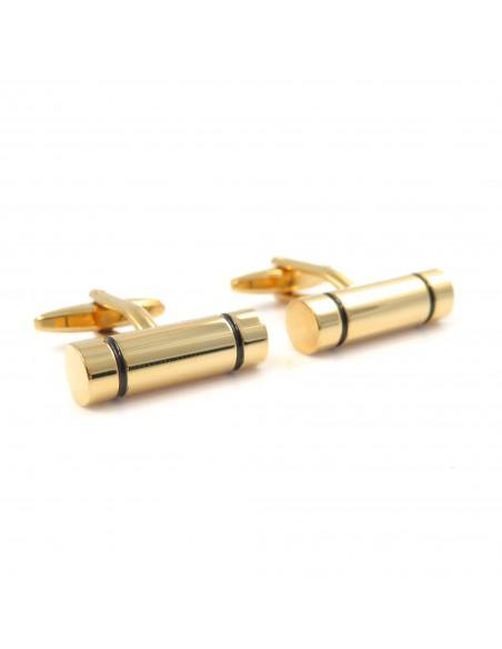 Złote spinki do mankietów - walec M63