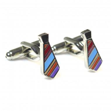 Srebrne spinki do mankietów - krawaty C100