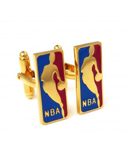 Złote spinki do mankietów - NBA H118
