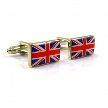 Spinki do mankietów - flaga Wielkiej Brytanii C34