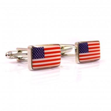 Spinki do mankietów - flaga USA C66