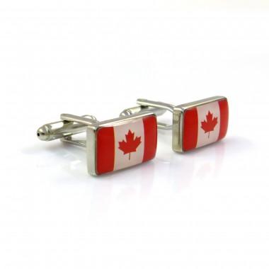 Spinki do mankietów - flaga Kanady C36