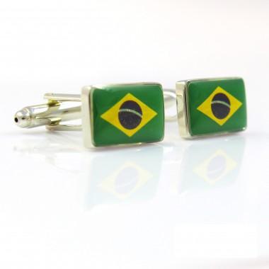 Spinki do mankietów - flaga Brazylii C33