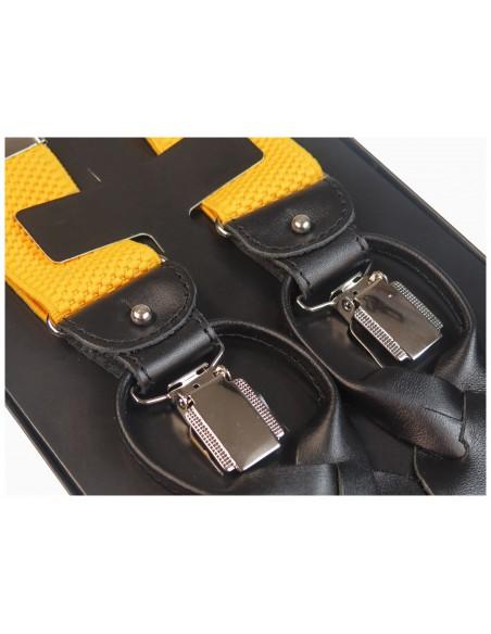 Żółte szelki na guziki G33