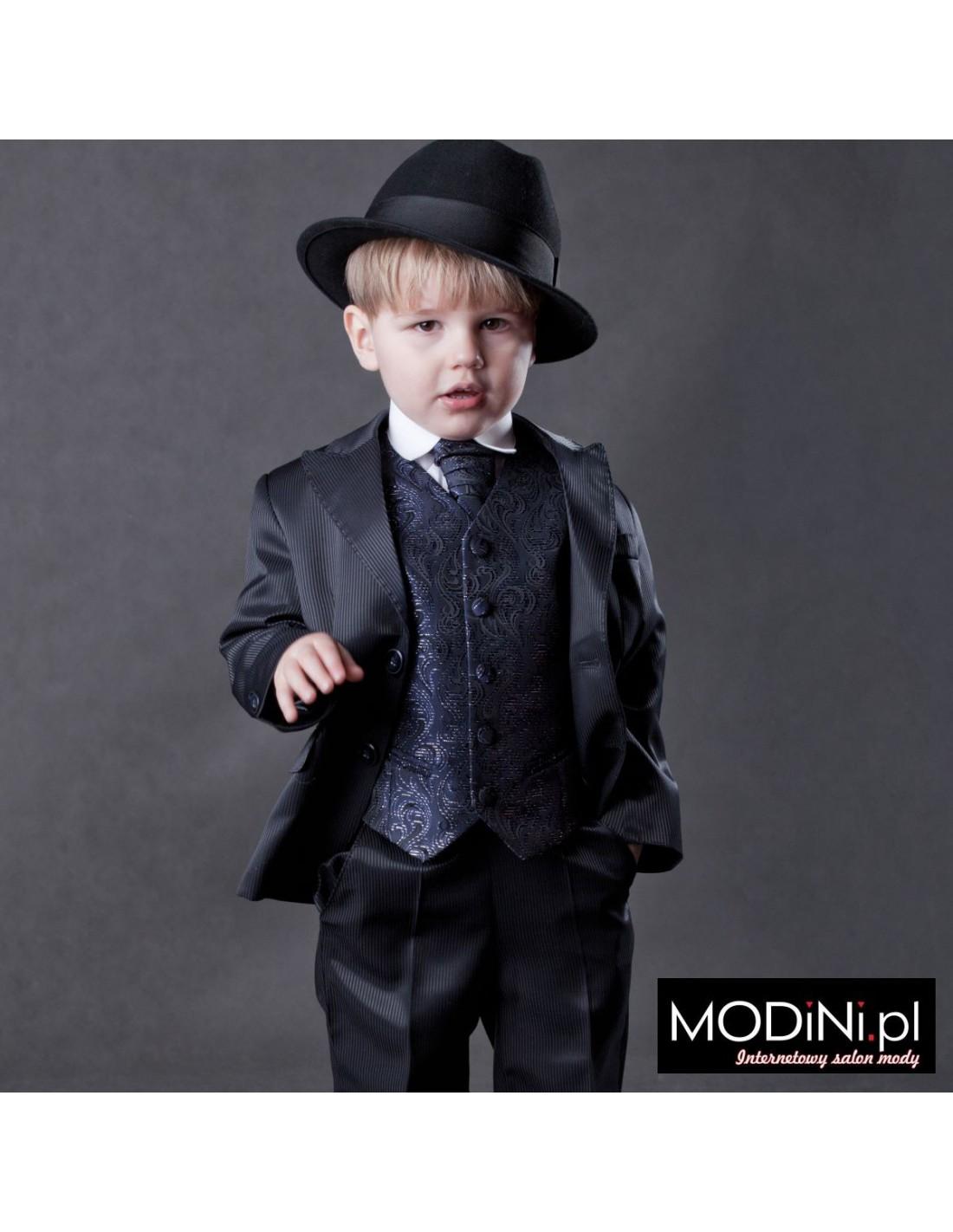 088ab0537c0af Granatowy garnitur dziecięcy   Sklep Internetowy Modini.pl