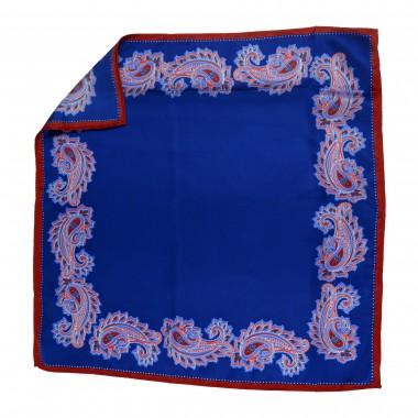 Niebieska poszetka - paisley E5