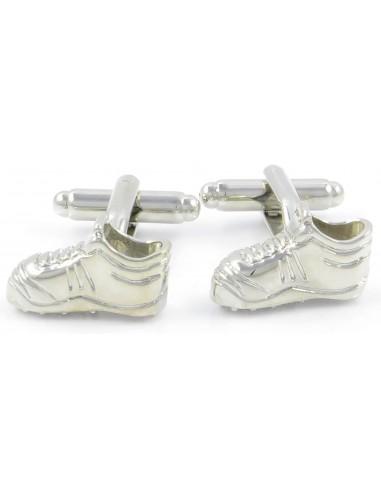 Srebrne spinki do mankietów - buty H41