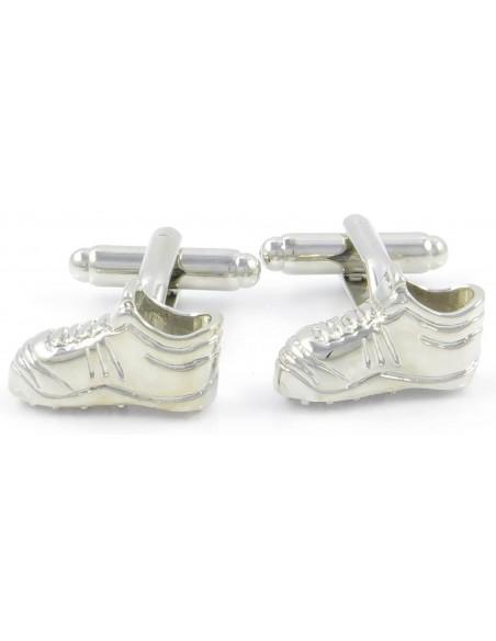 Srebrne spinki do mankietów - buty piłkarskie - korki H41