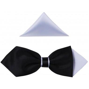 Czarno - biała mucha męska - diament