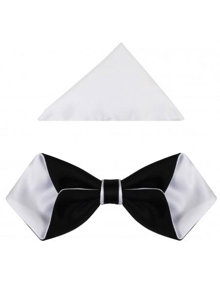Czarno-biała mucha męska diament