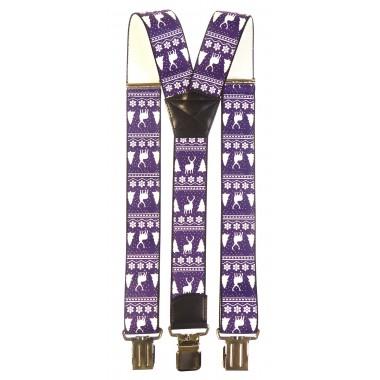 fioletowe szelki motyw świąteczny