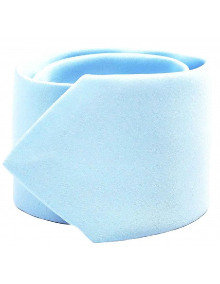 Błękitny krawat w zestawie z poszetką