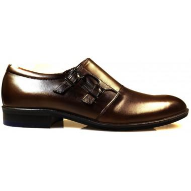 Brązowe wsuwane buty męskie