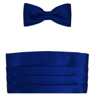 Niebieski Dziecięcy Pas Smokingowy z Muchą