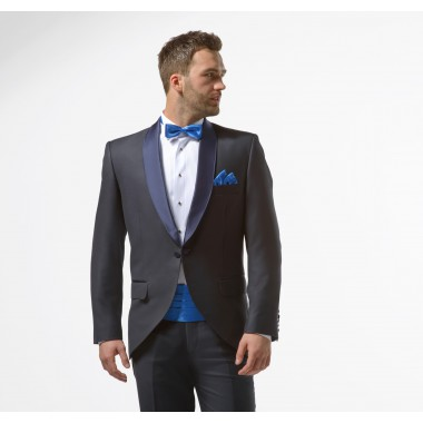 fdd7a35a99 Granatowy smoking męski slim - Midnight Blue Tuxedo ...