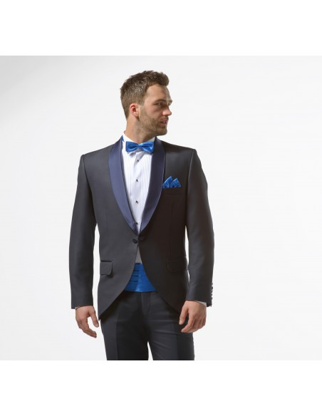 Granatowy smoking męski slim - Midnight Blue Tuxedo