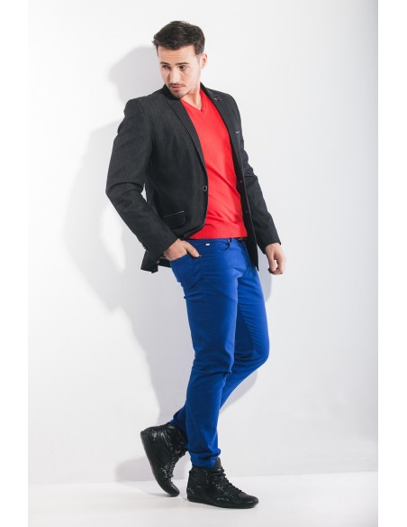 Marynarka męska przypominająca jeans