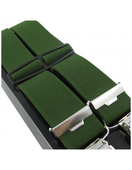 Zielone - oliwkowe szelki do spodni Lloyd L06