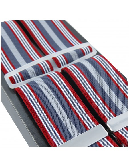 Szelki męskie w czerwono-szare paski Lloyd Z09