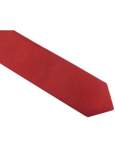 Czerwony krawat męski w delikatny wzór D39