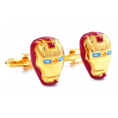 Złoto-czerwone spinki do mankietów - Iron Man