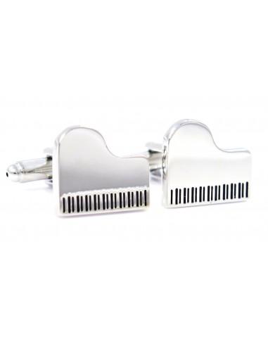 Srebrne spinki do mankietów - fortepiany