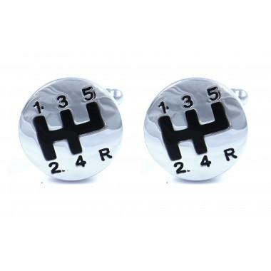 Srebrne spinki do mankietów dla kierowców H130