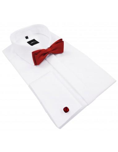 Biała koszula na spinki Mmer 100% bawełny 063