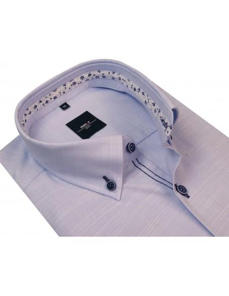 Niebieska koszula bawełna-len 276