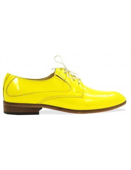 Unikatowe żółte lakierki męskie - buty wizytowe T54