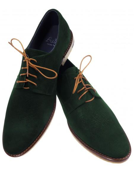 Ciemnozielone obuwie męskie