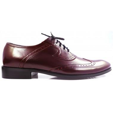 Bordowe brogsy męskie - buty wizytowe T6