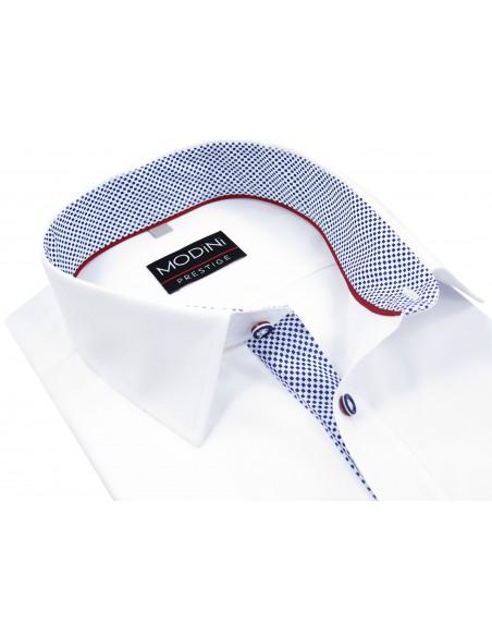 Biała koszula Modini z krótkim rękawem A15