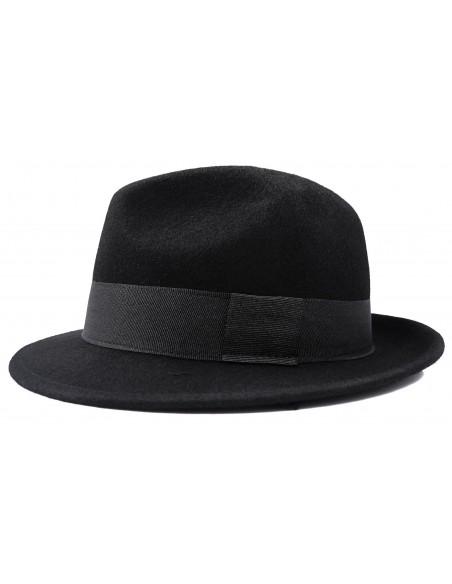 Czarny kapelusz męski G1