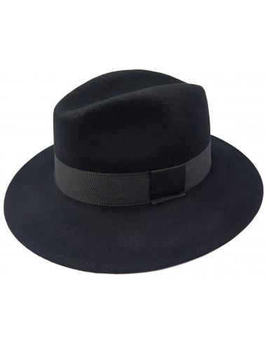 Czarny kapelusz męski szerszy G2