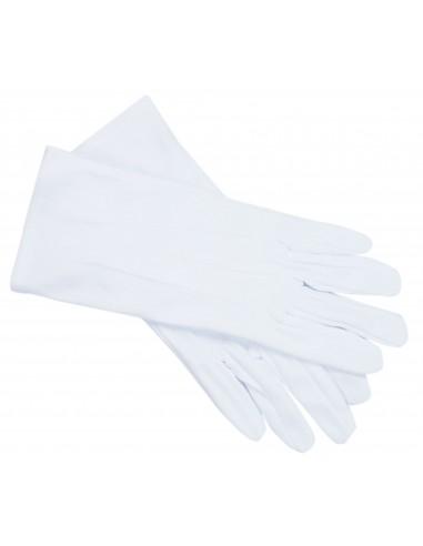 Białe rękawiczki męskie
