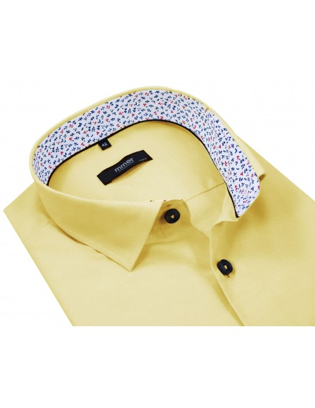Żółta koszula męska 347