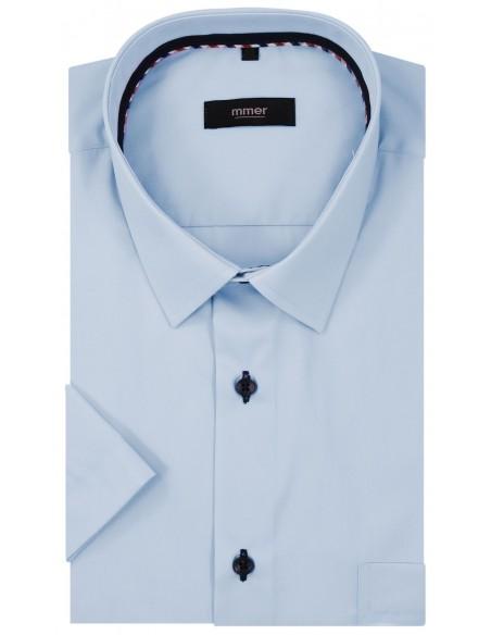 Błękitna koszula z krótkim rękawem 921