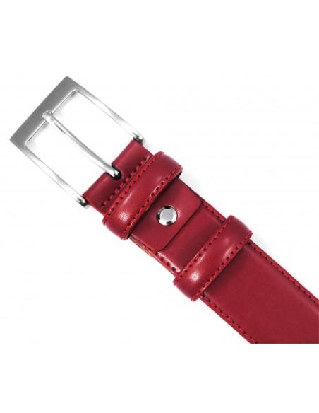 Czerwony pasek męski Sobieski P29