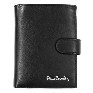 Skórzany portfel Pierre Cardin z dużą ilością zakładek PF4