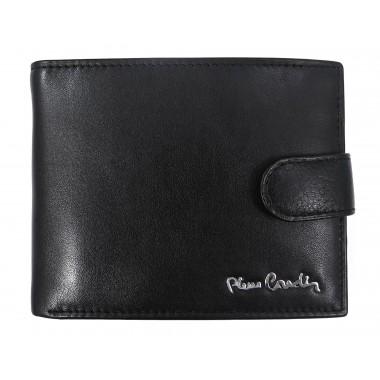 Czarny skórzany portfel Pierre Cardin z zapięciem PF5