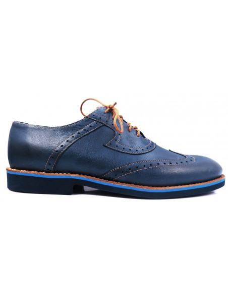 Granatowo-niebieskie brogsy F10