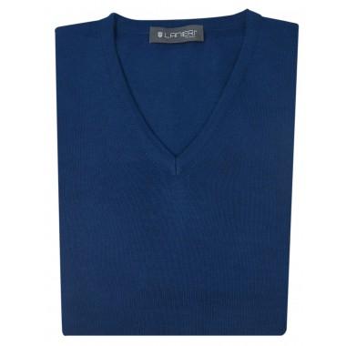 Granatowy sweter męski w szpic SW3
